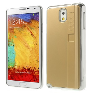 Champagne Plating Plastic Hard Back Shell Cover w/ Lighter for Samsung Galaxy Note 3 N9005 N9002 N9000
