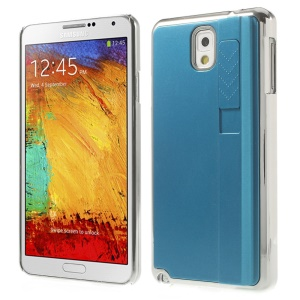 Blue Plating Plastic Hard Back Case Shell w/ Lighter for Samsung Galaxy Note 3 N9005 N9002 N9000
