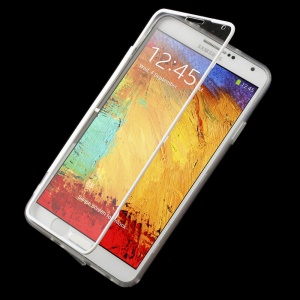 Clear Acrylic + TPU Folio Flip Cover for Samsung Galaxy Note 3 N9005 N9002 N9000 - White