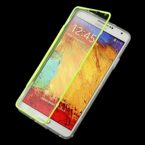 Folio Flip Clear Acrylic + TPU Protector Shell for Samsung Galaxy Note 3 N9002 N9005 - Green