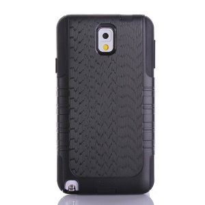 Wave Texture PC + TPU Hybrid Shockproof Dustproof Case for Samsung Galaxy Note 3 N9005 N9002 N9000 - Black