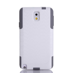 Wave Texture PC + TPU Combo Shockproof Dustproof Cover for Samsung Galaxy Note 3 N9005 N9002 N9000 - White