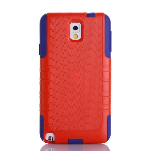 Shockproof Dustproof Wave Texture PC + TPU Protective Case for Samsung Galaxy Note 3 N9005 - Red