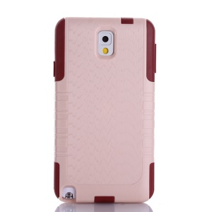 Shockproof Dustproof Wave Texture PC + TPU Protective Cover for Samsung Galaxy Note 3 N9000 - Pink