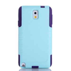 Wave Texture PC + TPU Shockproof Dustproof Case for Samsung Galaxy Note 3 N9000 - Light Blue