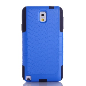 Wave Texture PC + TPU Shockproof Dustproof Cover for Samsung Galaxy Note 3 N9002 - Deep Blue
