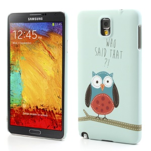 Cute Owl Rubberized Hard Shell Cover for Samsung Galaxy Note 3 N9005 N9002 N9000