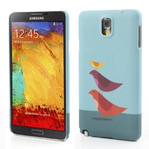 Three Birds Matte Hard Case Accessory for Samsung Galaxy Note 3 N9005 N9002 N9000