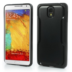 Stylish TPU & Plastic Hybrid Case for Samsung Galaxy Note 3 N9005 N9000 N9002 - Black