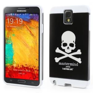 Skull Head PC & TPU Hybrid Cover for Samsung Galaxy Note 3 N9005 N9002 w/ Card Slot - White / Black
