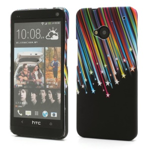 HTC One M7 801e Rubberized Hard Case Meteor Shower Pattern