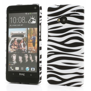 Zebra Skin Hard Plastic Case Cover for HTC One M7 801e