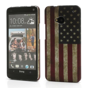 Retro United States American Flag Protective Case for HTC One M7 801e