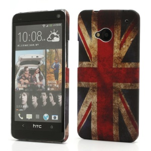 Vintage Union Jack UK Flag Hard Case Shell for HTC One M7 801e
