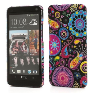 Mixed Patterns Painting HTC One M7 801e Rubberized Plastic Case
