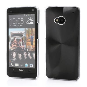CD Veins Metal Aluminium Hard Case Shell for HTC One M7 801e - Black