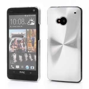 CD Veins Metal Aluminium Hard Case Shell for HTC One M7 801e - Silver