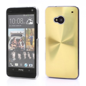 CD Veins Metal Aluminium Hard Case Shell for HTC One M7 801e - Gold