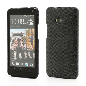 Glittery Sequins Hard Protective Case Cover for HTC One M7 801e - Black