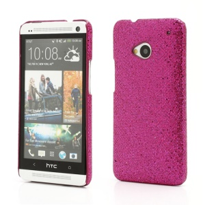 Glittery Sequins Plastic Case Cover for HTC One M7 801e - Rose