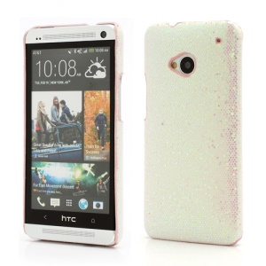 Glittery Sequins Plastic Case Shell for HTC One M7 801e - Light Pink