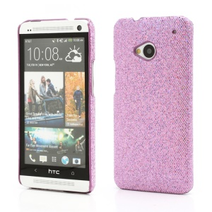 Glittery Sequins Plastic Case Cover for HTC One M7 801e - Light Purple
