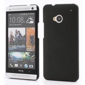 Slim Rubber Matte Hard Plastic Case Cover for HTC One M7 801e - Black