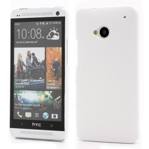 Slim Rubber Matte Hard Plastic Case Cover for HTC One M7 801e - White