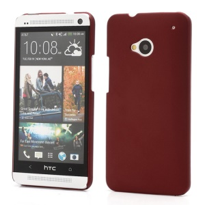 Slim Rubber Matte Hard Plastic Case Cover for HTC One M7 801e - Red