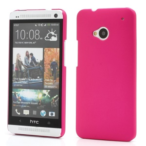 Slim Rubber Matte Hard Plastic Case Cover for HTC One M7 801e - Rose