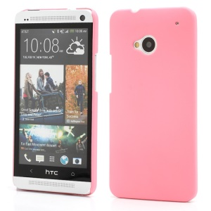 Slim Rubber Matte Hard Plastic Case Cover for HTC One M7 801e - Pink