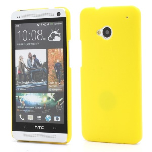 Slim Rubber Matte Hard Plastic Case Cover for HTC One M7 801e - Yellow
