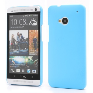 Slim Rubber Matte Hard Plastic Case Cover for HTC One M7 801e - Baby Blue