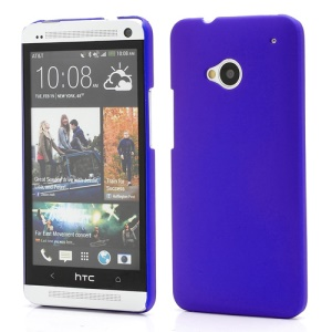 Slim Rubber Matte Hard Plastic Case Cover for HTC One M7 801e - Dark Blue