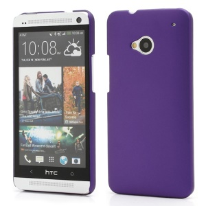 Slim Rubber Matte Hard Plastic Case Cover for HTC One M7 801e - Purple
