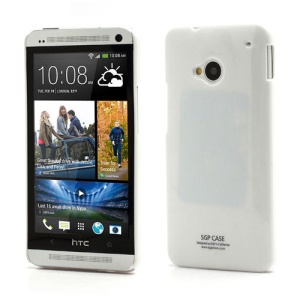 Ultra Thin Glossy Plastic SGP Case Cover for HTC One M7 801e - White