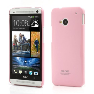 Ultra Thin Glossy SGP Plastic Case Cover for HTC One M7 801e - Pink