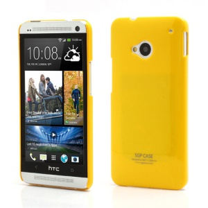 Ultra Thin Glossy SGP Plastic Case Cover for HTC One M7 801e - Yellow