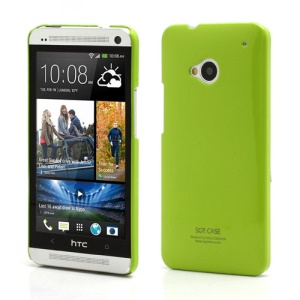 Ultra Thin Glossy SGP Plastic Case Cover for HTC One M7 801e - Green