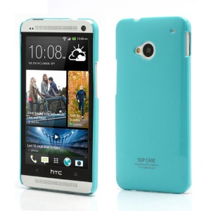 Ultra Thin Glossy SGP Plastic Case Cover for HTC One M7 801e - Blue