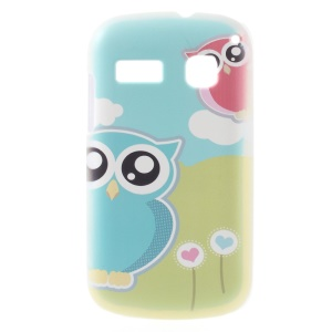 Two Cute Owls Hard Shell Case for Alcatel One Touch Pop C3 4033A 4033X 4033D 4033E