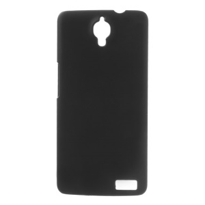 Black Rubberized Plastic Case for Alcatel One Touch Idol X 6040 6040A 6040D 6040E / TCL S950