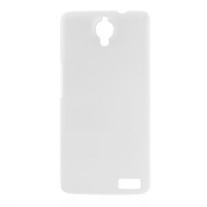 White Rubberized Plastic Case for Alcatel One Touch Idol X OT-6040 / TCL Idol X S950