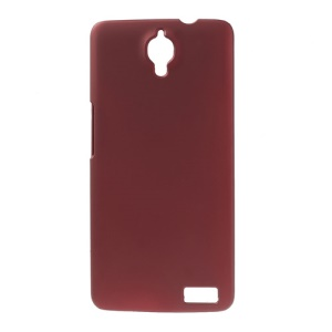Red Rubberized Plastic Cover for Alcatel One Touch Idol X OT-6040 / TCL Idol X S950