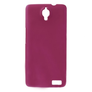 Rose Rubberized Plastic Shell for Alcatel One Touch Idol X OT-6040D / TCL Idol X S950