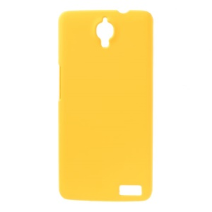 Yellow Rubberized Hard Back Case for Alcatel One Touch Idol X OT-6040D / TCL Idol X S950