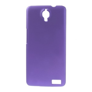 Purple Rubberized Plastic Case for Alcatel One Touch Idol X 6040 6040A 6040D 6040E / TCL Idol X S950