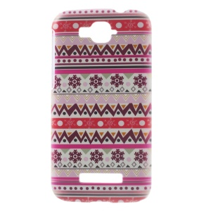 Protective Hard PC Case for Alcatel One Touch Pop C7 OT-7040E - Tribal Style Snowflake