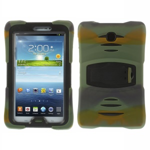 Military Duty Silicone & PC Robot Shell w/ Stand for Samsung Galaxy Tab 3 7.0 T2105 - Camouflage