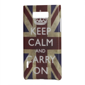 Vintga UK Flag Hardened Hard Shell Case for LG Optimus L7 P700 P705